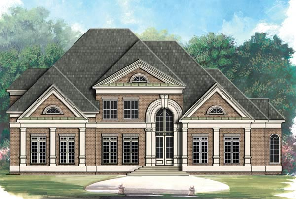 Greek Revival , European House Plan 72015 with 4 Beds, 5 Baths, 3 Car Garage Elevation