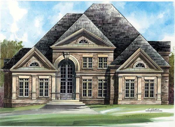 European Greek Revival House Plan 72016 Elevation