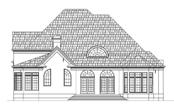 European Greek Revival House Plan 72016 Rear Elevation