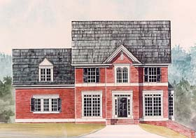 Colonial Traditional House Plan 72022 Elevation