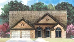 Traditional , Country , Colonial House Plan 72024 with 3 Beds, 2 Baths, 2 Car Garage Elevation