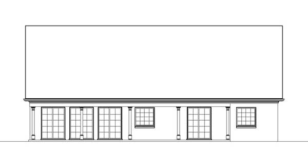 Traditional , Country , Colonial House Plan 72024 with 3 Beds, 2 Baths, 2 Car Garage Rear Elevation