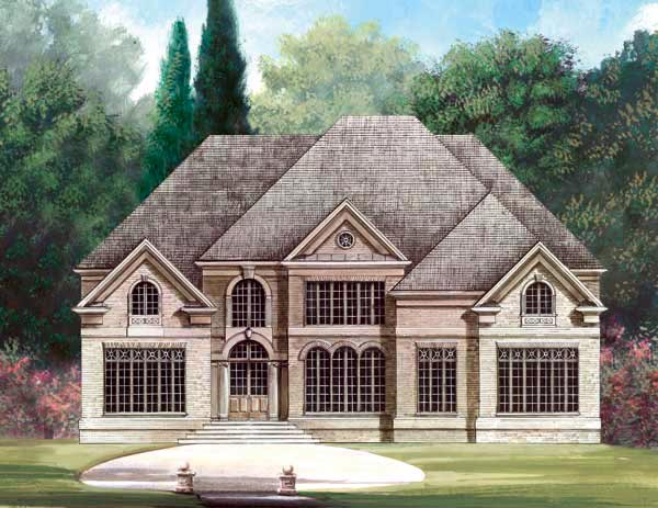 Greek Revival Traditional House Plan 72025 Elevation