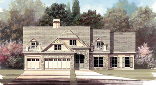 Craftsman European House Plan 72026 Elevation
