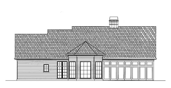 Craftsman European House Plan 72026 Rear Elevation