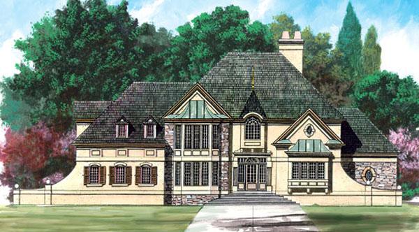 European Greek Revival House Plan 72028 Elevation