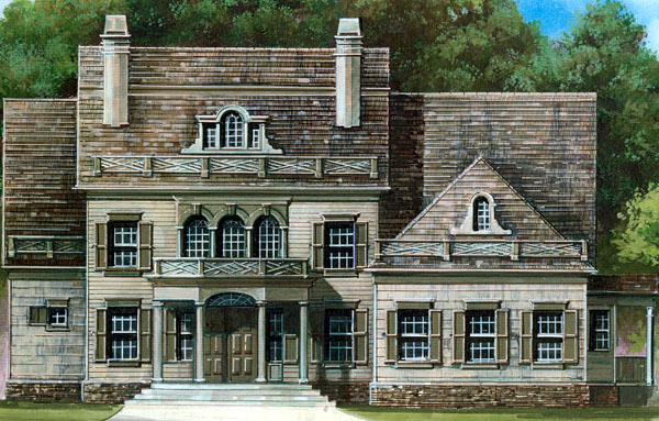 Colonial Greek Revival House Plan 72029 Elevation