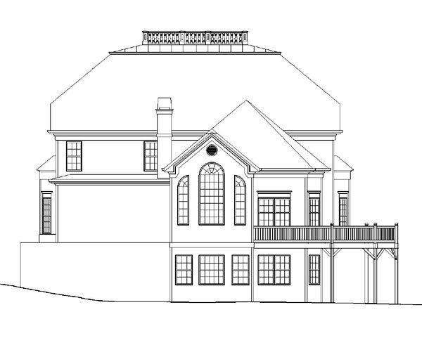 Colonial House Plan 72030 Rear Elevation