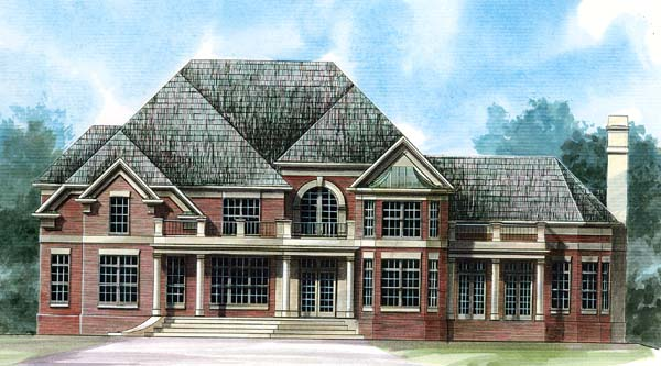 Traditional House Plan 72033 Elevation