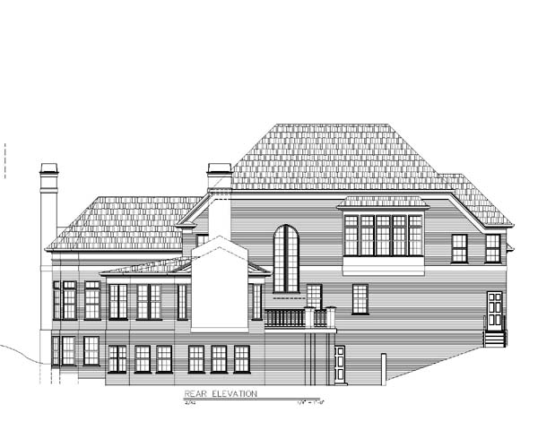 Traditional House Plan 72033 Rear Elevation