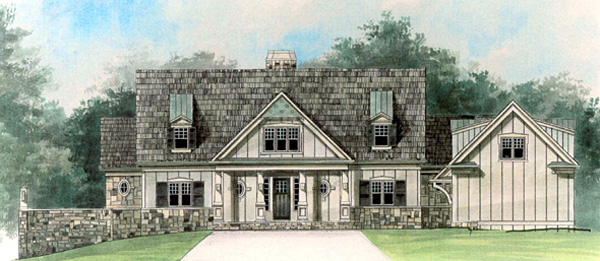 Cape Cod House Plan 72034 with 5 Beds, 5 Baths, 2 Car Garage Elevation