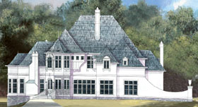 European Greek Revival House Plan 72036 Elevation