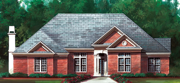 Traditional House Plan 72038 Elevation