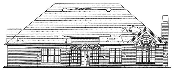 Traditional House Plan 72038 Rear Elevation