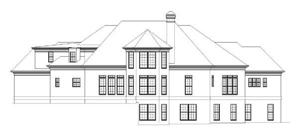 Greek Revival Traditional House Plan 72039 Rear Elevation