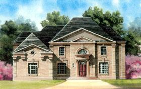 Colonial Greek Revival House Plan 72040 Elevation