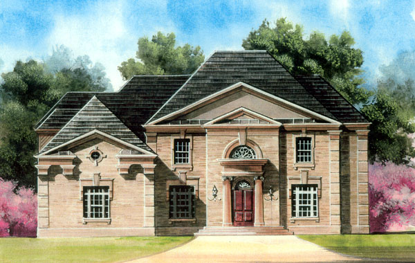 Colonial Greek Revival House Plan 72040 Elevation