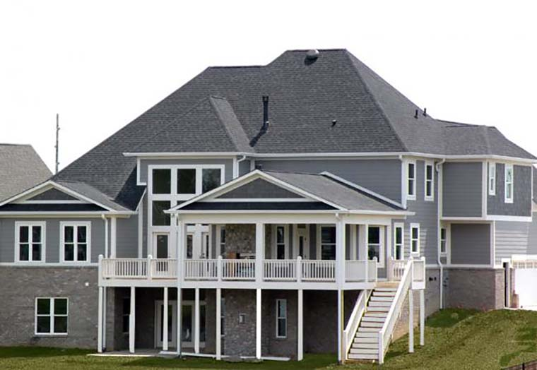 Greek Revival Tudor House Plan 72041 Rear Elevation