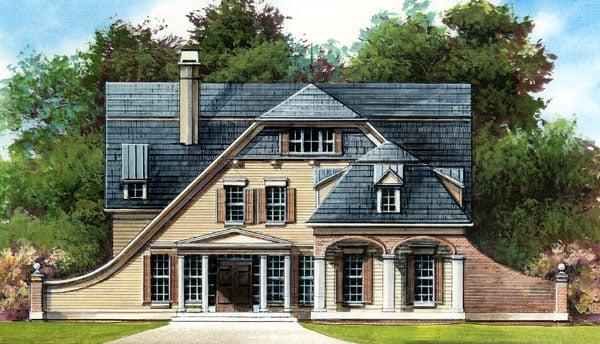 European Tudor House Plan 72045 Elevation