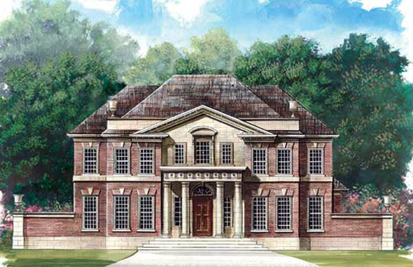 Colonial , Greek Revival House Plan 72050 with 5 Beds, 4 Baths, 3 Car Garage Elevation