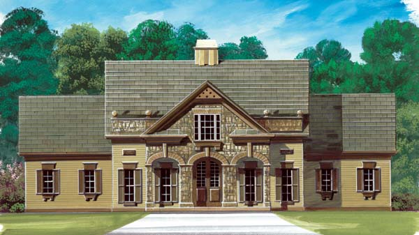 Colonial European House Plan 72052 Elevation