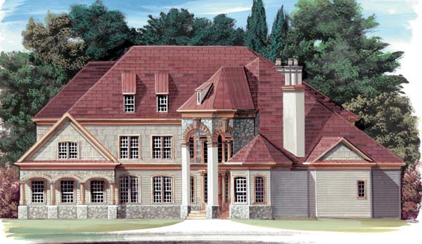 Colonial European House Plan 72053 Elevation
