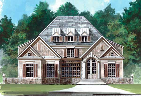 Colonial European Greek Revival House Plan 72054 Elevation