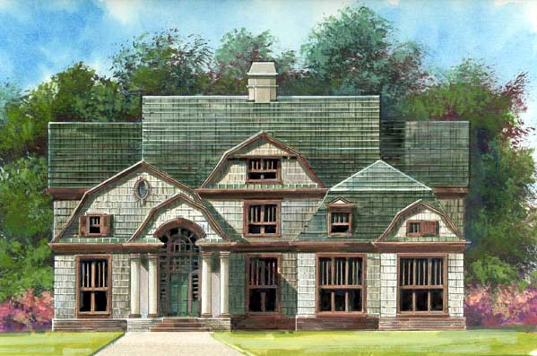 European Greek Revival House Plan 72056 Elevation