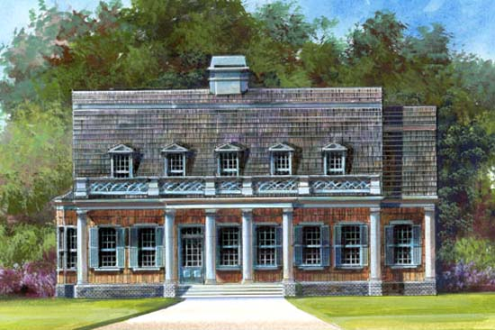 Colonial House Plan 72057 Elevation