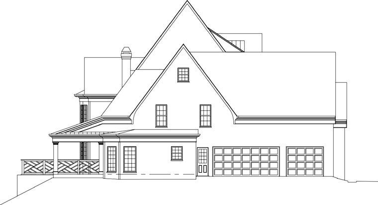 Greek Revival, Tudor House Plan 72058 with 3 Beds, 5 Baths, 3 Car Garage Picture 1