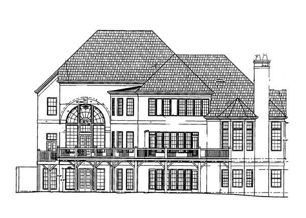 Greek Revival Tudor House Plan 72059 Rear Elevation