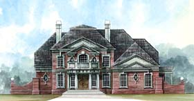 Greek Revival , Colonial House Plan 72060 with 4 Beds, 4 Baths, 3 Car Garage Elevation
