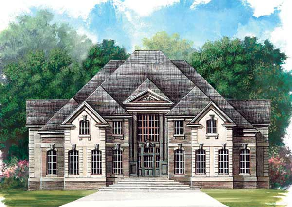European Greek Revival House Plan 72061 Elevation