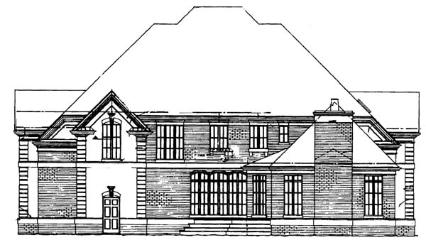 European Greek Revival House Plan 72061 Rear Elevation