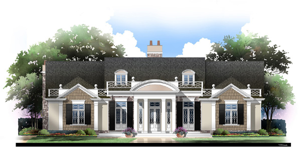 Colonial House Plan 72063 with 3 Beds, 4 Baths, 3 Car Garage Elevation