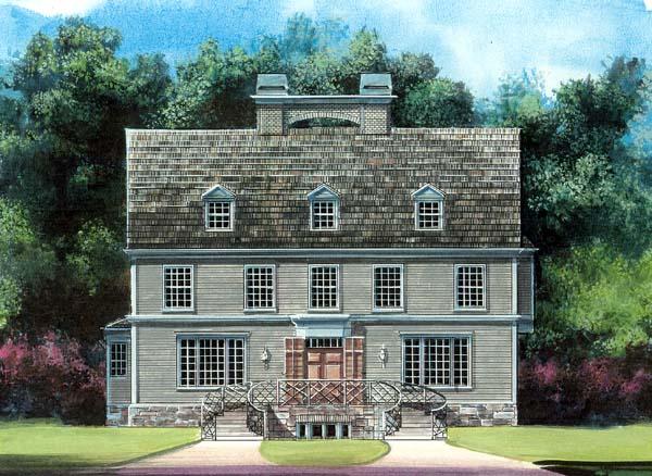 Colonial Greek Revival House Plan 72064 Elevation
