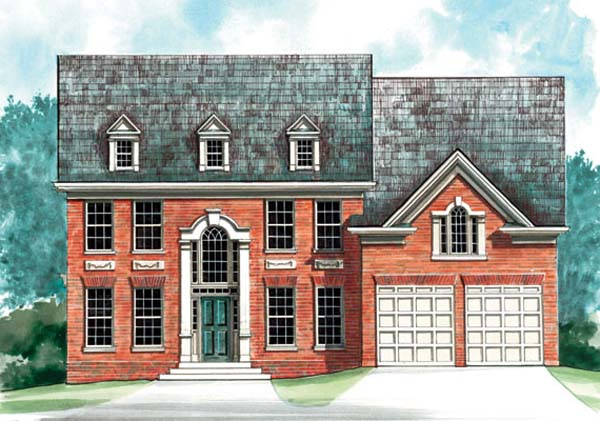 Colonial Elevation of Plan 72065