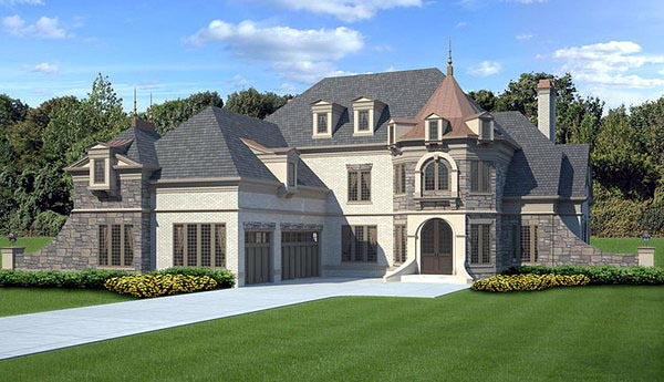 Greek Revival House Plan 72067 with 4 Beds, 3 Baths, 3 Car Garage Elevation