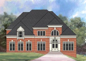 European Greek Revival Traditional House Plan 72068 Elevation