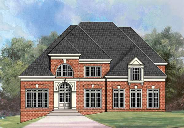 European Greek Revival House Plan 72070 Elevation