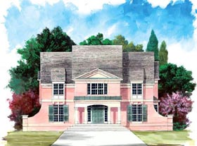 Colonial European House Plan 72072 Elevation