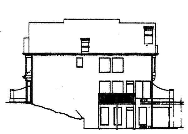 Colonial European House Plan 72072 Rear Elevation