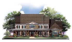 Country Greek Revival House Plan 72073 Elevation