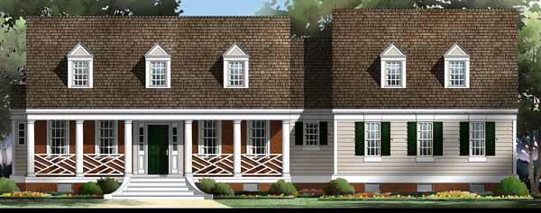 House Plan 72074 | Country Farmhouse Ranch Style Plan with 1816 Sq Ft, 3 Bedrooms, 3 Bathrooms, 2 Car Garage Elevation
