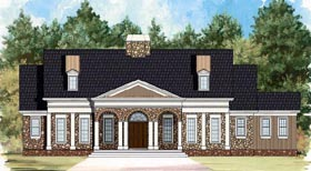 Colonial House Plan 72077 Elevation