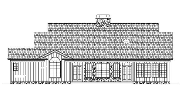 Colonial House Plan 72077 Rear Elevation