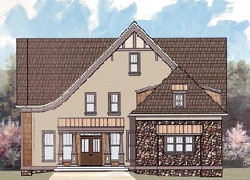 House Plan 72078 | European Tudor Style Plan with 2505 Sq Ft, 4 Bedrooms, 2 Bathrooms, 2 Car Garage Elevation