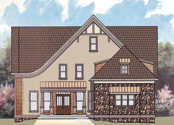 European Tudor House Plan 72078 Elevation