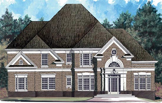 European , Tudor House Plan 72079 with 4 Beds, 3 Baths, 2 Car Garage Elevation