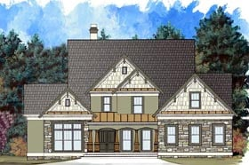 House Plan 72082 | Craftsman Style Plan with 2773 Sq Ft, 4 Bedrooms, 3 Bathrooms, 2 Car Garage Elevation
